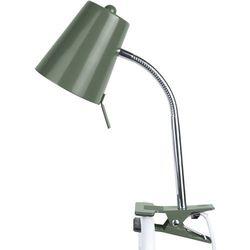 Lampka biurkowa z klipsem do mocowania do blatu Clip On Leitmotiv zielona
