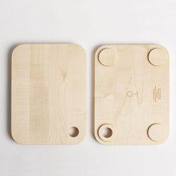 Deska do krojenia 01 mniejsza z litego drewna, marki 4home
