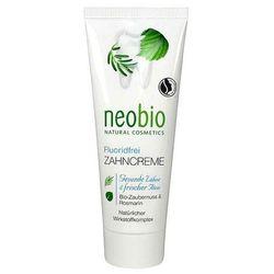 Neobio (kosmetyki eko) Pasta do zębów bez fluoru z ksylitolem oraz z wyciągiem z oczaru wirgilskiego i rozm