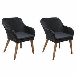 Elior Zestaw krzeseł ogrodowych fring - czarny