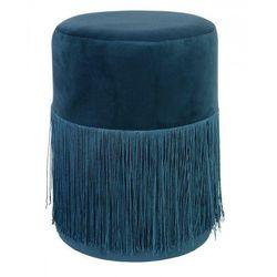 Welurowa pufa Fudi - niebieska, kolor niebieski