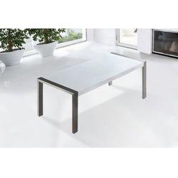 Beliani Stół do jadalni ze stali nierdzewnej biały 220 x 90 cm arctic i (7081455627250)