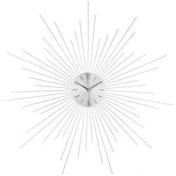 Zegar ścienny SUN w kolorze srebrnym, okrągły - Ø50 cm