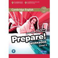 CAMBRIDGE ENGLISH PREPARE! 4 WORKBOOK WITH AUDIO*natychmiastowawysyłkaod3,99, oprawa miękka
