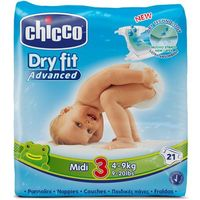 CHICCO Midi 21szt. (4-9kg) – pieluszki jednorazowe - sprawdź w wybranym sklepie