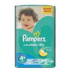 Pieluszki Pampers Active Baby-dry rozmiar 4+ Maxi+, 70 szt., kup u jednego z partnerów