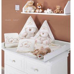 Mamo-tato kocyk polarowy śpiacy miś ecru