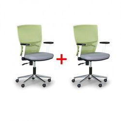 Krzesło biurowe haag 1+1 gratis, zielono/szare marki B2b partner