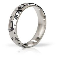 - pierścień erekcyjny - his ringness earl polerowany i grawerowany 48m marki Mystim