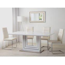Beliani Stół do jadalni biały stal nierdzewna 180 x 90 cm kalona (4260602372134)