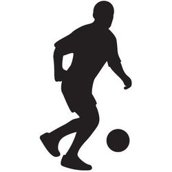 Szabloneria Szablon malarski, wielorazowy, wzór sport 5 - piłkarz z piłką