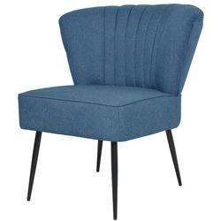 vidaXL Fotel koktajlowy niebieski