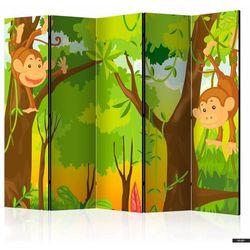 parawan 5-częściowy - dżungla - małpy marki Selsey