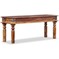 vidaXL Ława, lite drewno sheesham, 110 x 35 45 cm (8718475532163)