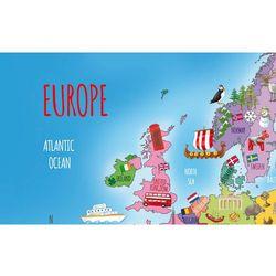 Mapa Europy - naklejka naścienna (mapa szkolna)