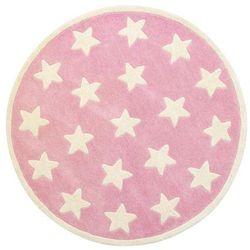 Dywan okrągły stars różowy marki Kids concept