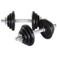 Hantle żeliwne 2 x 10 kg Hop-Sport + rękawiczki neoprenowe - 2 x 10 kg - produkt z kategorii- Hantle