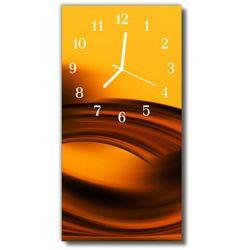 Zegar Szklany Pionowy Sztuka Fale abstrakcja pomarańczowy, kolor pomarańczowy