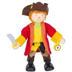 Postać do teatrzyku dla dzieci - kapitan piratów, zabawa w teatr od www.epinokio.pl