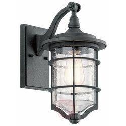 Elewacyjna lampa ścienna royal marine kl/royalmarin2/s elstead zewnętrzna oprawa latarenka do ogrodu ip44 czarna marki Kichler