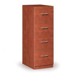Drewniana szafa kartotekowa, 4 szuflady, kalwados
