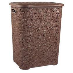 Pucuś Kosz na pranie prostokątny brązowy 45l