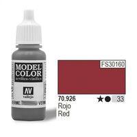 VALLEJO Farba Nr33 Red Matt 17ml, towar z kategorii: Farby modelarskie
