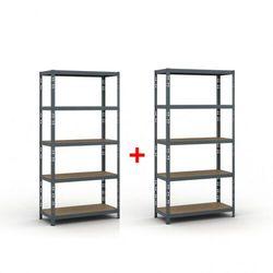 Regał półkowy 1800 x 900 x 400, nośność 175 kg 1+1 gratis marki B2b partner