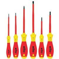 WIHA Zestaw wkrętaków płaskich/ PH, SoftFinish electric, 6 części 00833 (4010995008338)