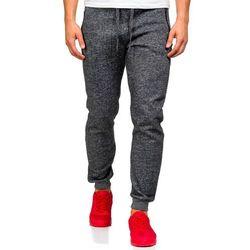Antracytowe spodnie dresowe męskie Denley X002 - ANTRACYTOWY