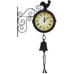 Ścienny zegar ogrodowy z termometrem, vintage marki Vidaxl