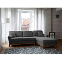 Narożnik ciemnoszary - kanapa - sofa - narożna - wypoczynek - nexo marki Beliani