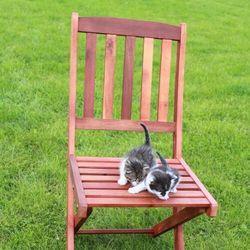 Krzesła Ogrodowe Akacja 2szt - Meble UMBRIA 48x85x52cm, B-UMBRA-XX-002