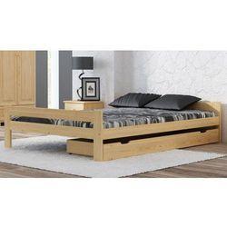 Meble magnat Łóżko drewniane prima 140x200 eko z materacem piankowym megana