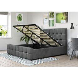 Łóżko z materacem tapicerowane 160x200 sfg015 popiel welur marki Meblemwm