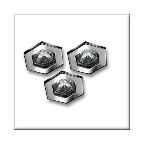 TIP oprawy wbudow. Hexa, 3 szt., chrom, 3x20W - z kategorii- pozostałe oświetlenie