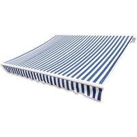 Vidaxl  markiza przeciwsłoneczna biało-niebieskie płótno 6 x 3 m (bez stelażu)