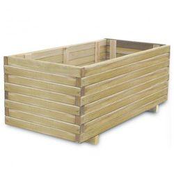 Drewniana donica 100 x 50 x 40 cm ze sklepu VidaXL