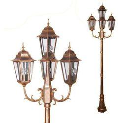 Stojąca LAMPA zewnętrzna LOZANA K-7006A2/4  metalowa OPRAWA ogrodowa IP44 outdoor złoty, produkt marki Kaja