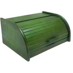 Chlebak drewniany zielony