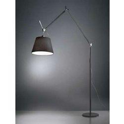 Artemide:: Lampa podłogowa Tolomeo Mega ze ściemniaczem - czarny abażur '42, srebrny stelaż, kolor srebrny