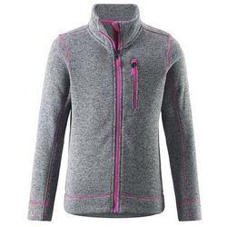 Bluza Polarowa Reima knit fleece LICHEN szara z różowymi elementami z kategorii Pozostała moda i styl