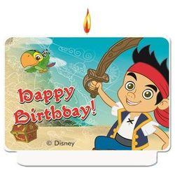 Świeczka Happy Birthday Jake i piraci - 1 szt.