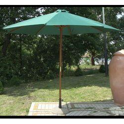 Parasol ogrodowy drewniany Poly zielony, 48137