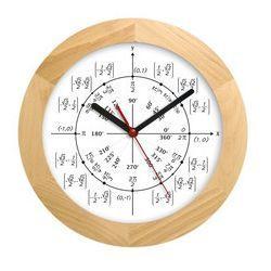 Zegar drewniany solid geometria, ATW300M4