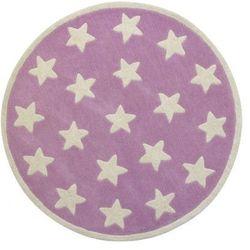 Kids concept Dywan okrągły  - gwiazdki różowe, kategoria: dywany dla dzieci