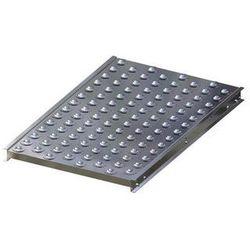 Stół kulowy, wys. konstrukcji 70 mm, szer. przenośnika 600 mm, dł. 1000 mm, podz