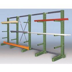 Kompletny regał wspornikowy, wersja superciężka, wys. stojaka 2700 mm, dł. 3100 marki Unbekannt