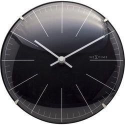 NeXtime - Zegar stojący/ścienny Big Stripe Mini Dome - czarny, kolor czarny