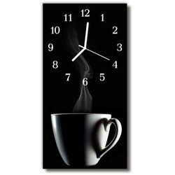 Zegar Szklany Pionowy Kuchnia Filiżanka kawy czarny, kolor czarny